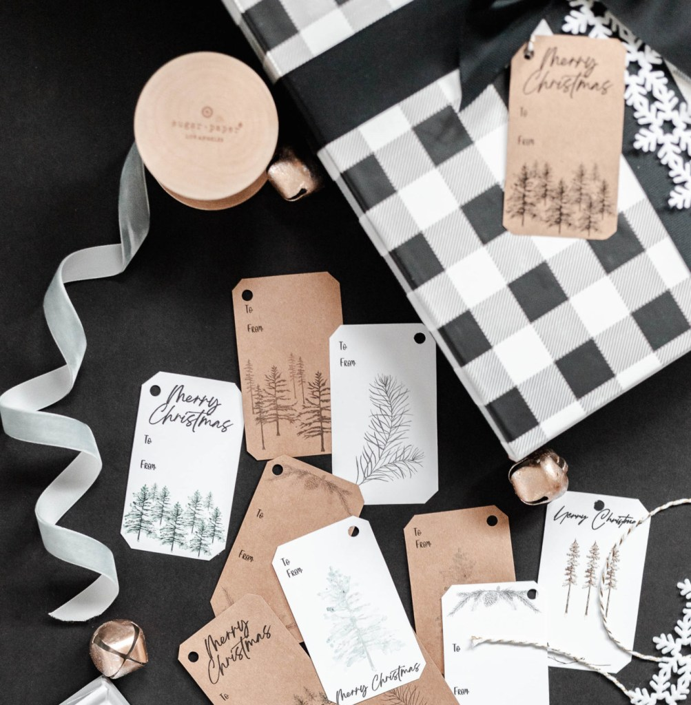 Example of gift tags