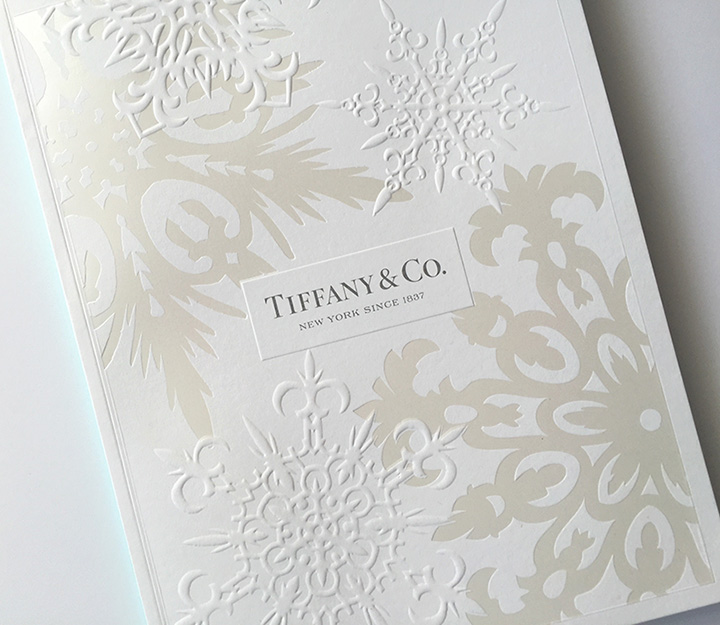 Example of embossed holiday design