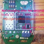 Nokia 101 not charging after few seconds solution