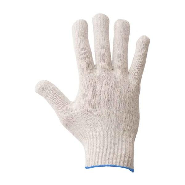 Перчатки вязаные белые без ПВХ 5 нитей