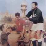 1971 Khalid Mahmood Holding World cup trophy