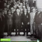 Pakistan hockey team with President Ayub Khan