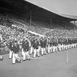 Pakistan's contingent during opening ceremony of 1948 Olympics.