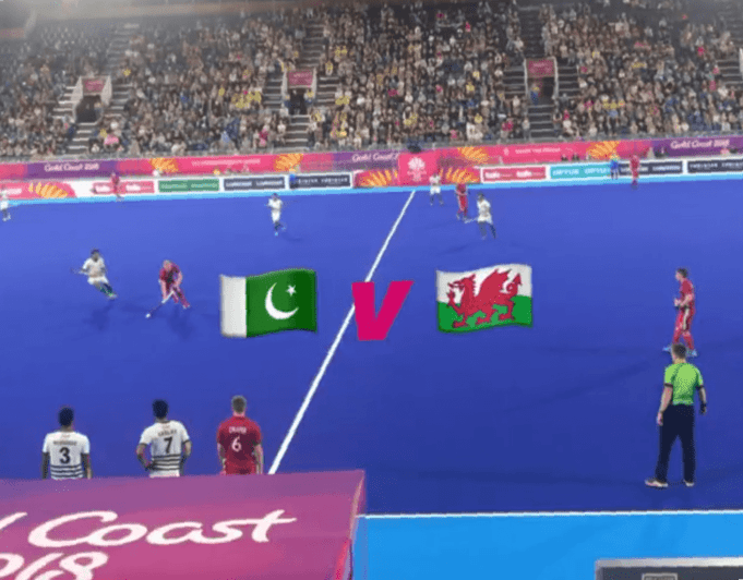 Pakistan Team in commonwealth games against Wales