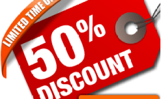 50 persent discount offer