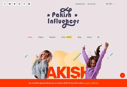 Influencer Home Avada Influencer