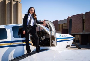 Female pilot began journey around world