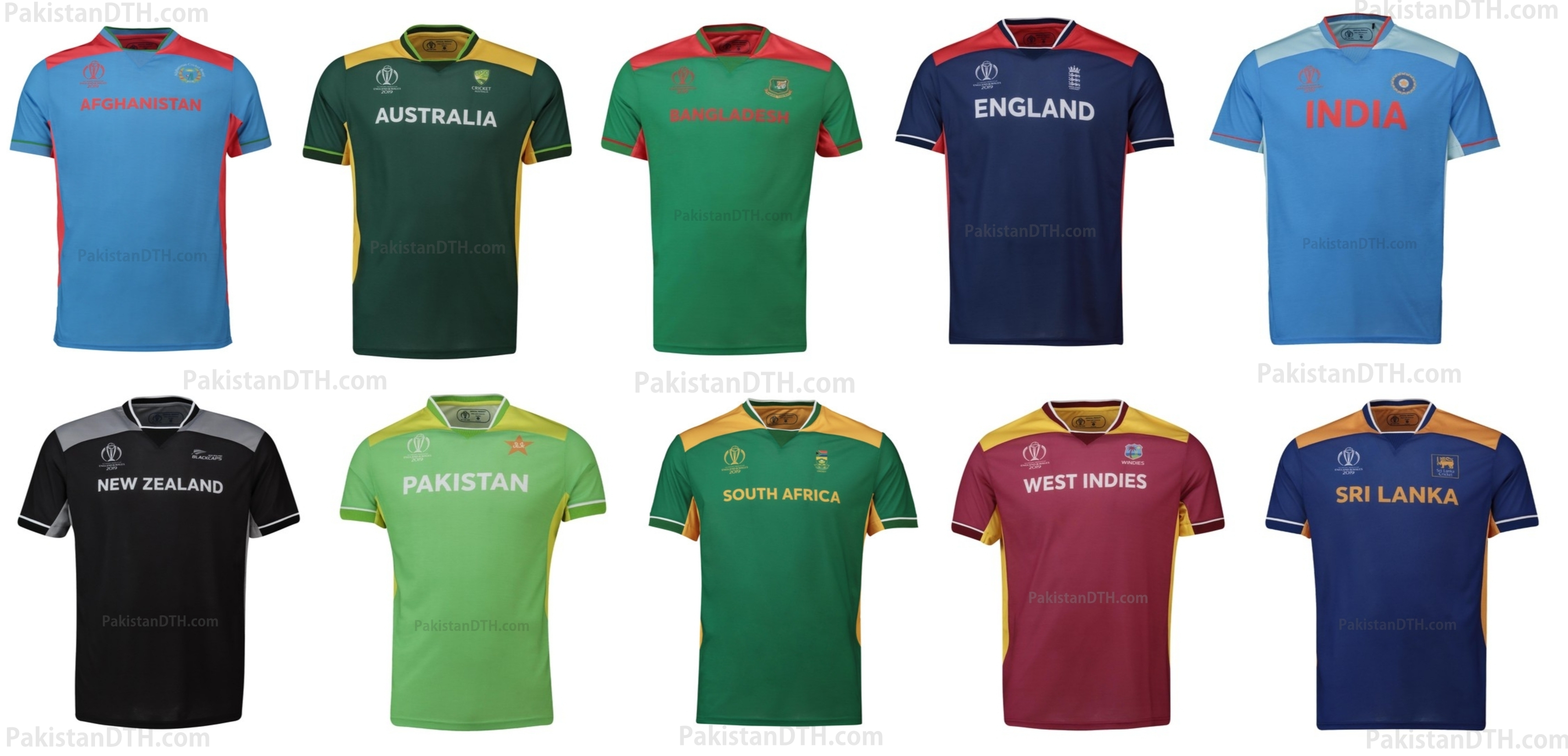 Official Cricket World Cup 2019 Kits