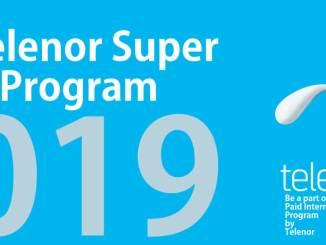 Telenor Paid Intern 2019 Program