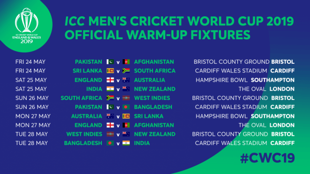 Cricket World Cup 2019 Warm Up Matches Broadcast Channels Live Streaming