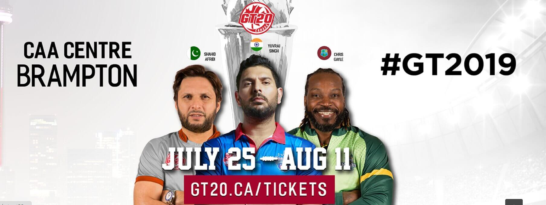 Global T20 Broadcast, Live Stream, Schedule, Teams and Players
