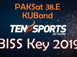 TEN Sports Biss Key 2019 PakSat 38E KuBand