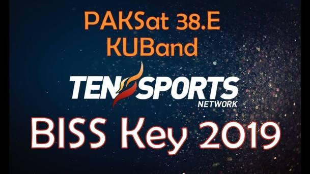 TEN Sports Biss Key 2019 PakSat 38E KuBand