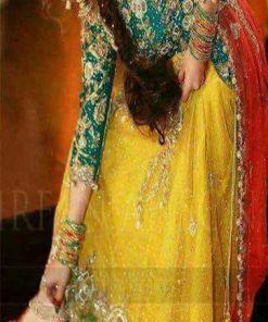 Pakistani Mehndi Dresses Online