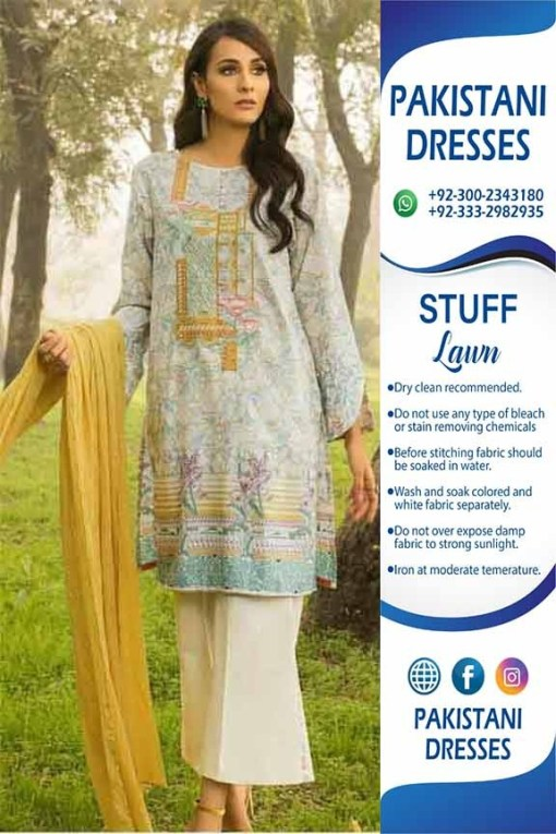 Pakistani lawn collection dresses 2019