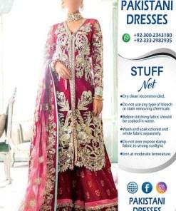 Crimson Bridal Wedding Clothes