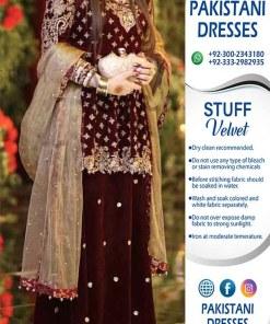 Pakistani Wedding Velvet Dresses