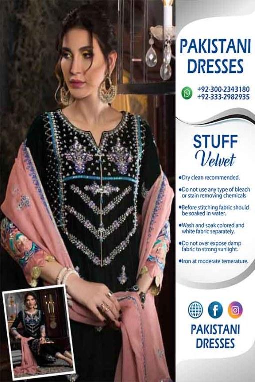 Pakistani Latest Velvet Dresses