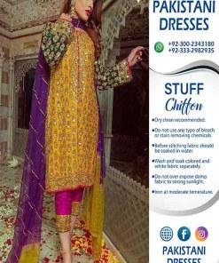 Sobia Nazir Chiffon Mehndi Dresses 2020
