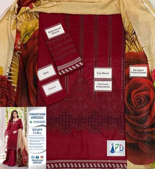 Afrozeh Cotton Dresses For Eid Online