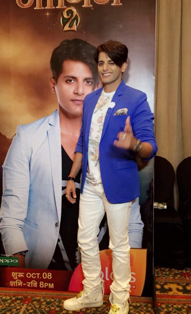 Karanvir Bohra at the launch of Naagin 2