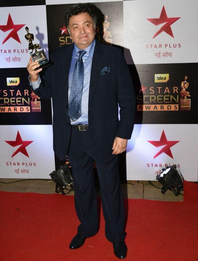 Rishi Kapoor at star screen awards