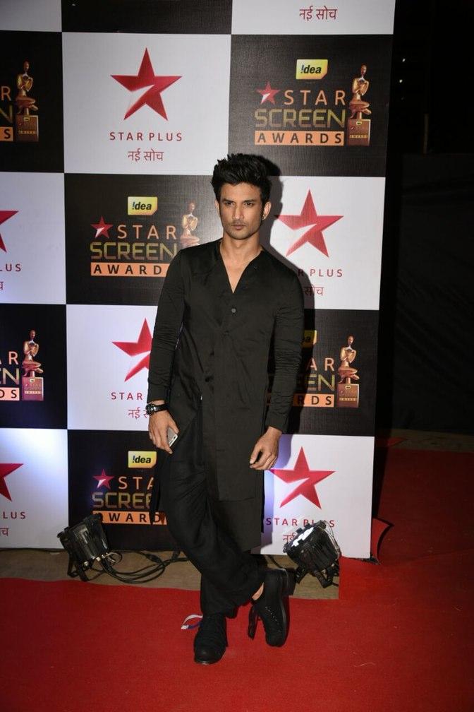 Sushant Singh Rajput at star screen awards