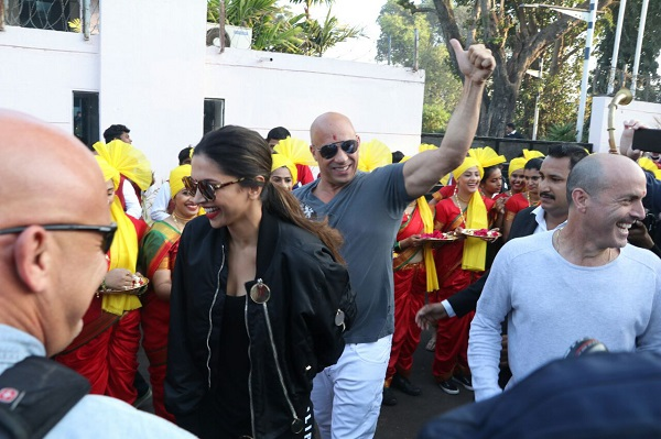 Vin Diesel and Deepika Padukone Lands In India For XXX Promotions-3