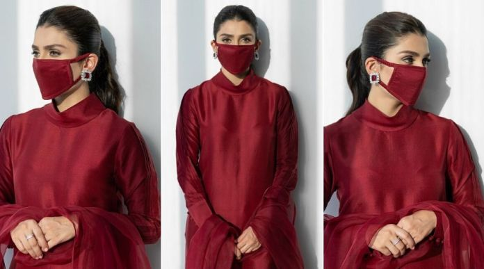 Ayeza Khan's matching mask for Coronavirus prevention is the most trending thing online