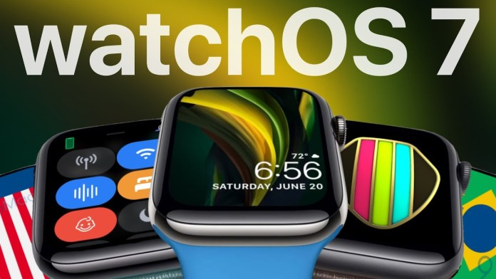 WatchOS 7 new app ios apple