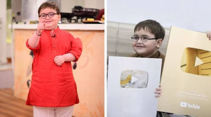Ahmed shah becomes youngest youtuber to get gold button in Pakistan