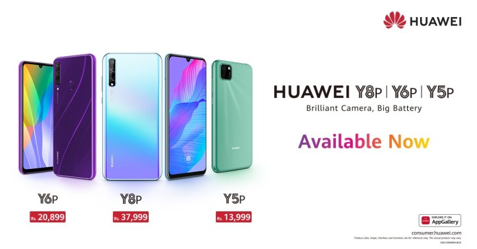 Huawei Y6p & Huawei Y8p launches in Pakistan - Prices and specifications