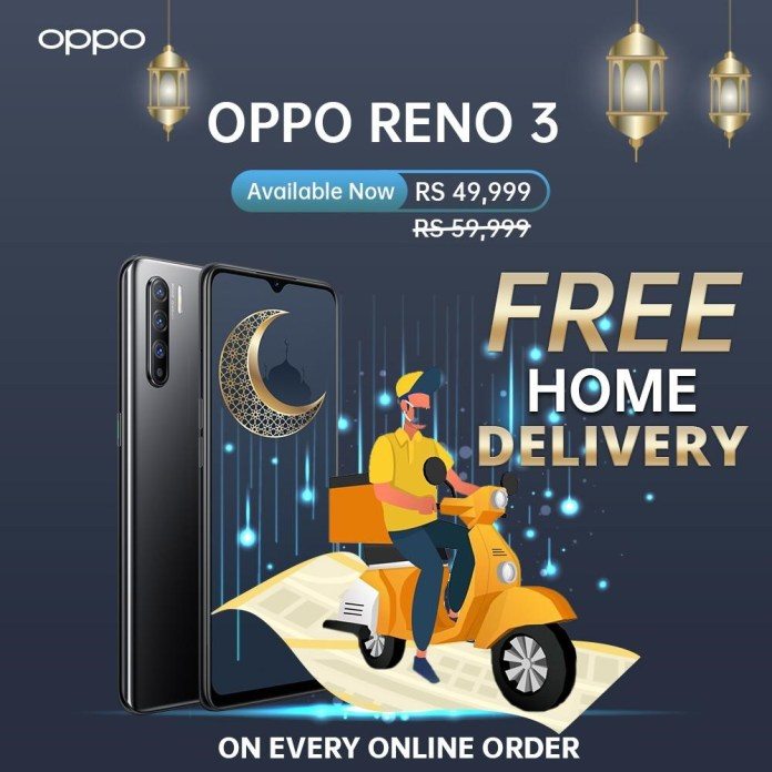 OPPO RENO 3 FREE DELIVERY IN PAKISTAN