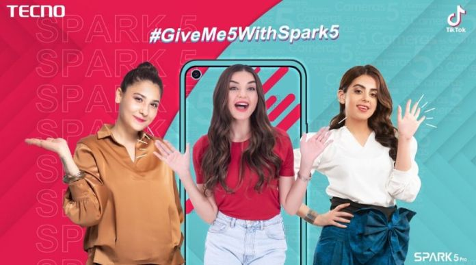 TECNO's #GiveMe5withSpark5 Challenge receives 100 Million views on Social Media