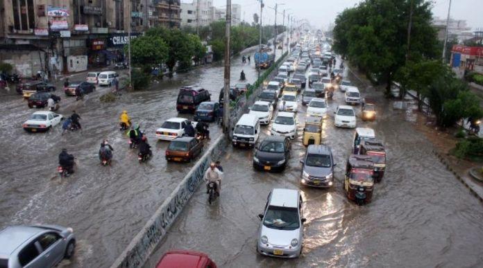 Karachi destruction due to heavy rainfall