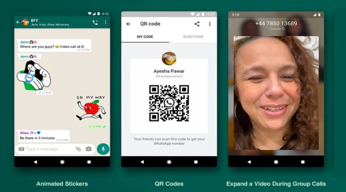 WhatsApp Announces Animated Stickers & QR Codes