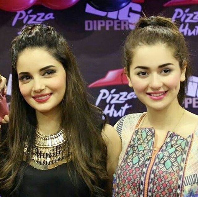 armeena khan with hania amir