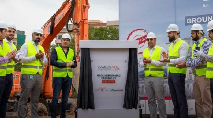 Zameen Ace Mall construction work starts in Islamabad