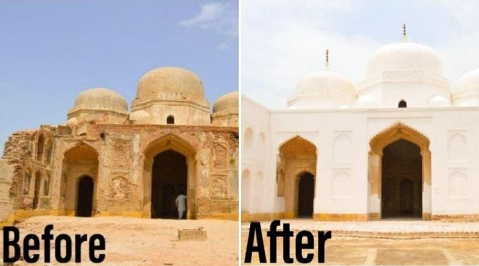 Sindh Govt restore ancient site 'Hingorani Maariyon', but people are not happy