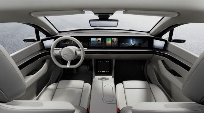 Sony Vision-S interior full view