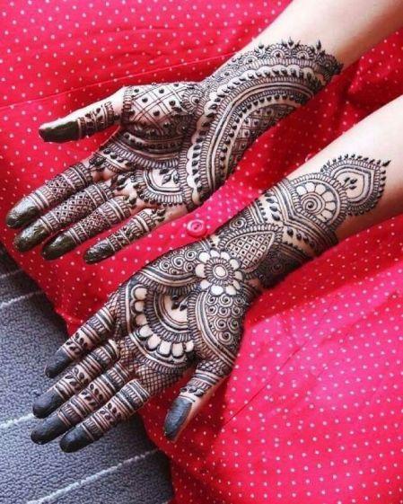 Full Hand Mehandi Design for Wedding