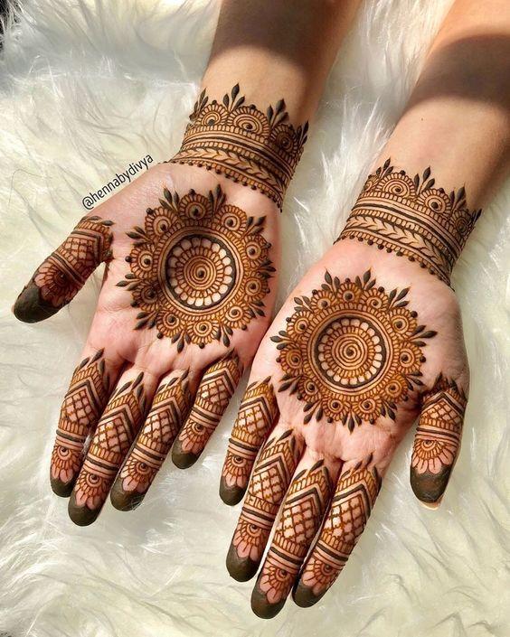 Rangoli Mehndi Design for Wedding
