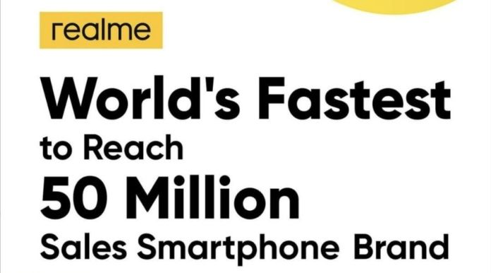 Realme Achieves the Fastest 50 Million Product Sales & Scores