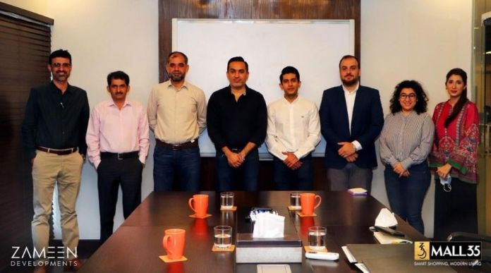 Zameen Developments and Tameer Constructions sign Mall 35 Construction Contract