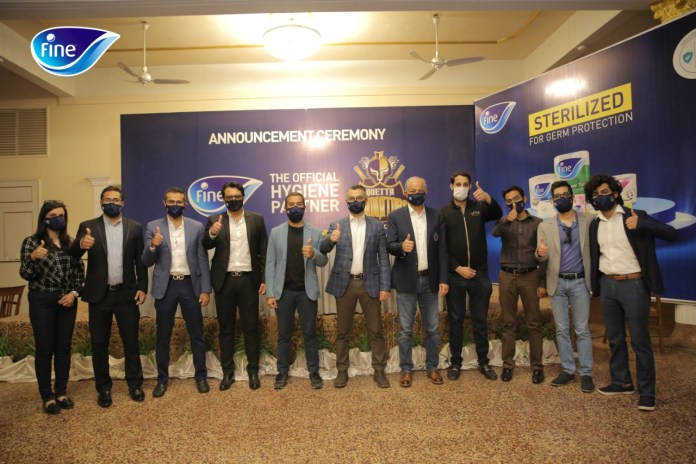 Fine Wellness Pakistan becomes Official Hygiene Partner of the Quetta Gladiators