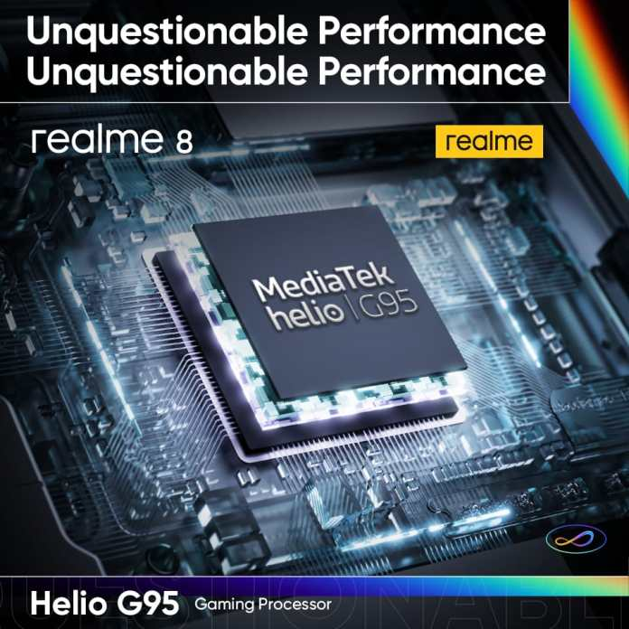 realme 8 MediaTek Helio G95 gaming processor
