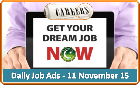 Daily Job Ads 11th November 2015