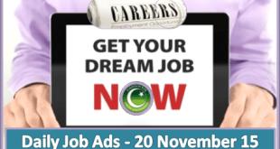 Daily Job Ads 20th Nov 2015