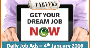 Daily Job Ads 4th Jan 2016