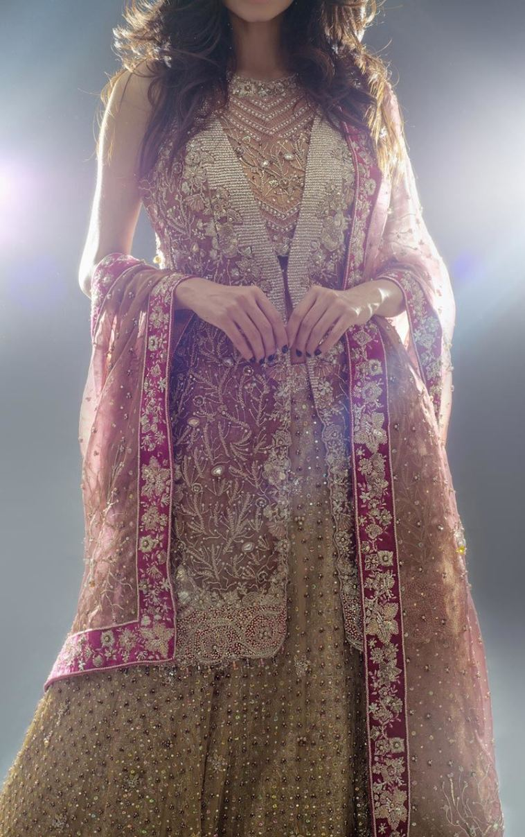 Light Gold Beautiful Pakistani Bridal Dress By Latest Dresses